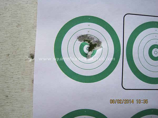08-03-14 CZ 455 51.5gr 7 shot goup