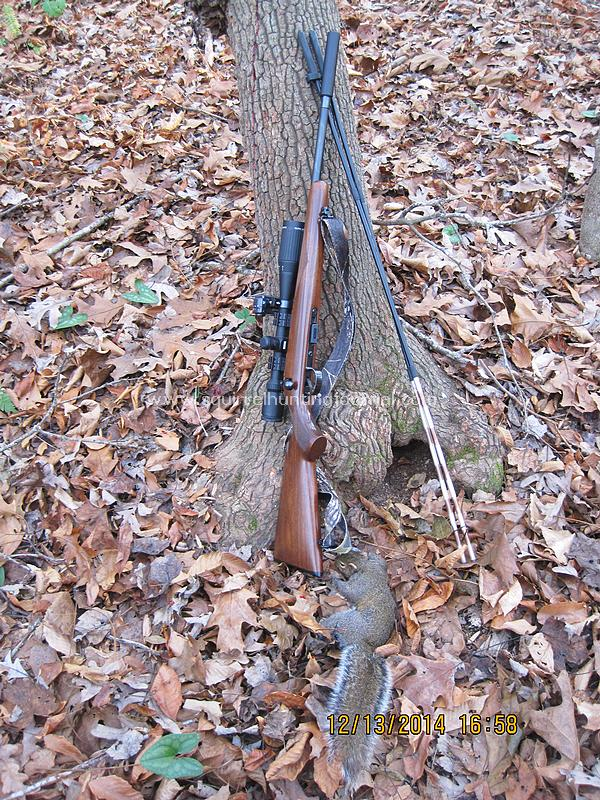 12-13-14 Nate's first afternoon squirrel 1