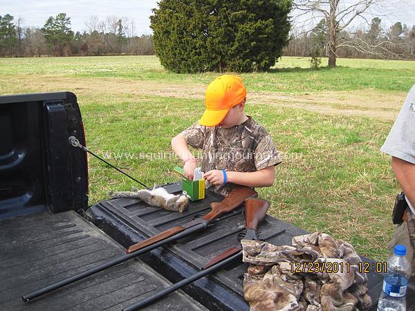 Shotgunning for squirrels