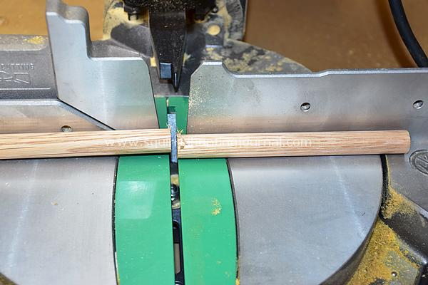 Cutting the Dowel